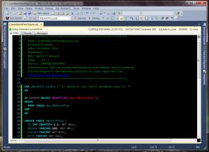 Tabbed T-SQL Window
